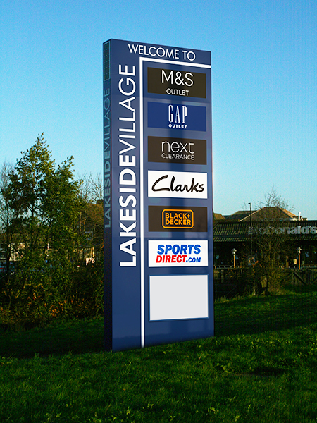 Lakeside Village Doncaster Sign Options