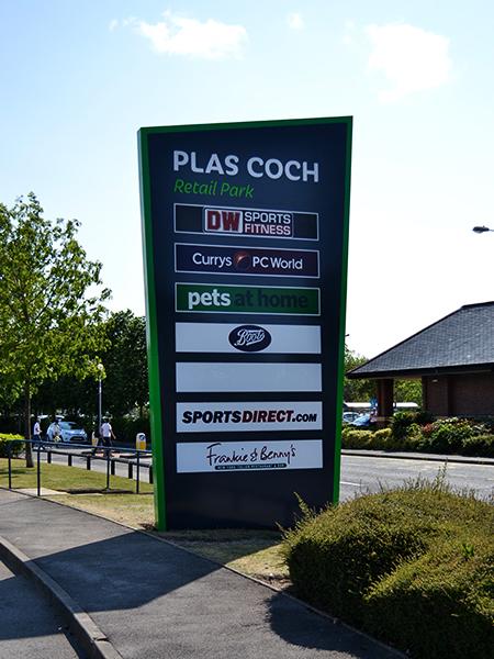 Plas Coch Retail Park Wrexham Sign Options